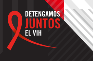 Let's Stop Hiv Together Logo In Spanish 1.22.20
