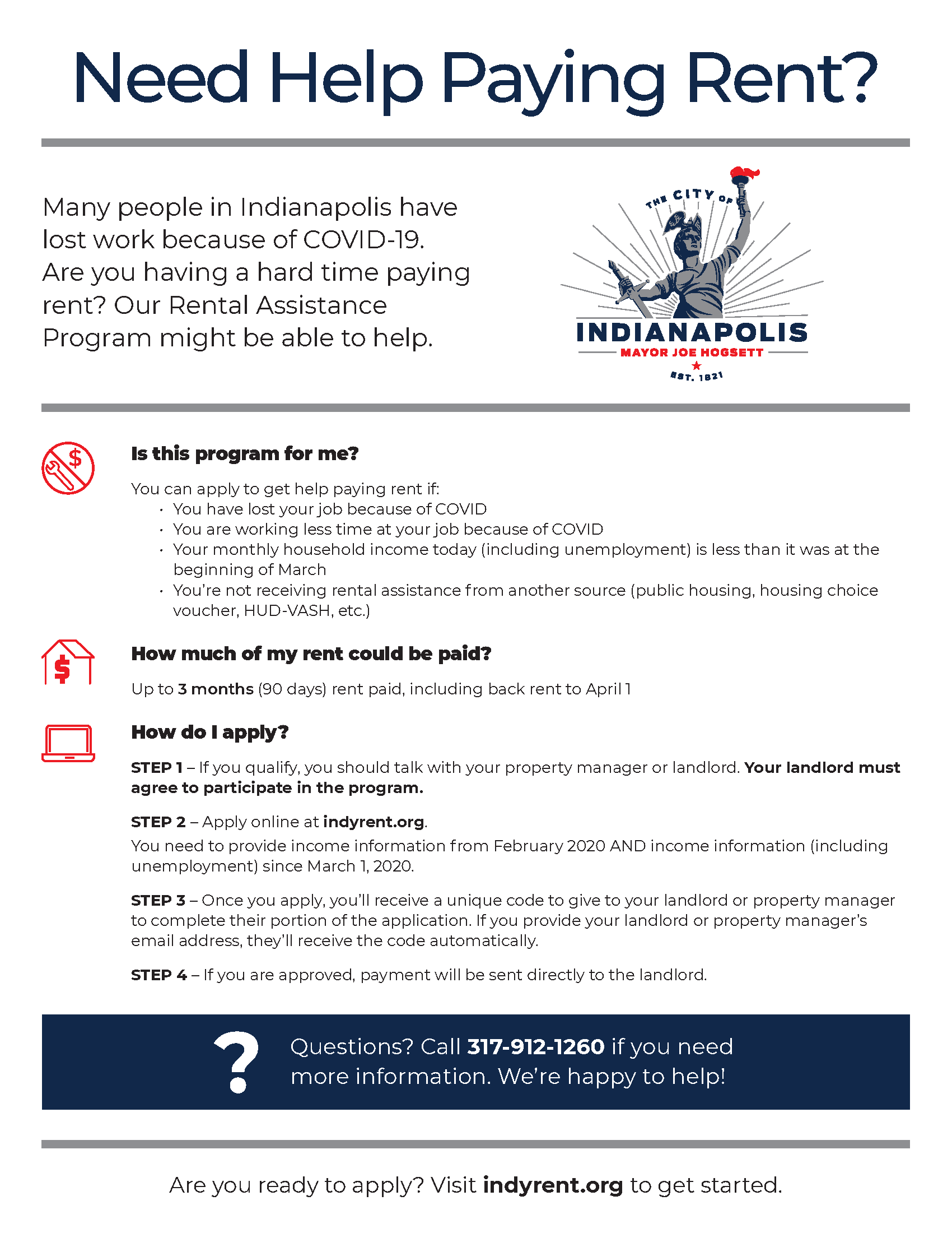 20200708 Rental Assistance Program Flyer P1 7.9.20 Page 1